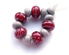 Cherry | Lampwork beads by Laura Sparling