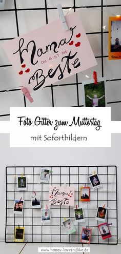 Foto Gitter zum Muttertag   #Muttertag #mom #motherday #fotogitter Repurposing, German, Inspiration, Home Decor, Pictures, Funny Products, Funny Presents, Group, Father's Day
