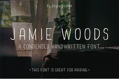 Condensed font - Jamie Woods by Skyla Design on @creativemarket