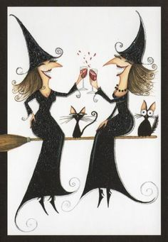 Halloween Witches and Wine