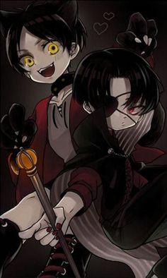 "Shingeki no Kyojin {Attack on Titan} Halloween - Rivaille ""Levi"" Ackerman and Eren Jaeger - CLS"