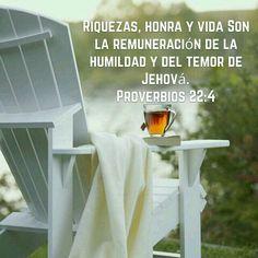 Recompensa de la humildad y del temor del SEÑOR son las riquezas, la honra y la vida. Proverbios 22:4