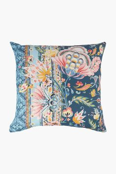 Printed Floral Scarf Scatter Cushion, 50x50cm - Shop New In - Home Dé Scatter Cushions, Throw Pillows, Home Decor Shops, Floral Scarf, Decor Styles, Tapestry, Printed, Cover, Design