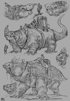 This week some creature mounts Creatures 3, Fantasy Creatures, Mythical Creatures, Anatomy Poses, Fantasy Concept Art, Alien Planet, Dinosaur Art, Fantasy Dragon, Creature Concept