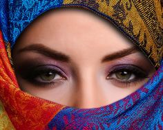 colorful vails on women  | ... , people, photography, pretty, silk, veil, veiled, veils, woma, women