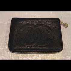 Authentic Chanel Caviar Leather Zip Around Wallet Gorgeous, authentic Chanel caviar leather wallet. Like new. CHANEL Bags Wallets