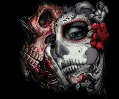 """Lowrider Art Design"" Canvas Print by La Muerte Tattoo, Catrina Tattoo, Sugar Skull Mädchen, Sugar Skull Tattoos, Skull Candy Tattoo, Lowrider Art, Lowrider Tattoo, Chicano Tattoos, Body Art Tattoos"