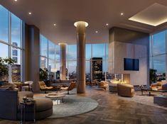 Modern Mansion Interior, Dream House Interior, Luxury Homes Dream Houses, Interior Design New York, New York Penthouse, Luxury Penthouse, Luxury Apartments, Penthouse Apartment, Nyc Apartment Luxury
