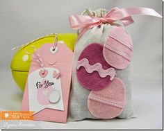 An Easter Gift Set created using new dies from Waltzingmouse Stamps!