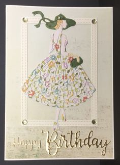 Tattered Lace Cards, Stampin Up, Happy Birthday, Scrapbooking, Female, Clothes, Birthdays, Happy Brithday, Outfits