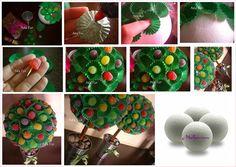 Para festas infantis.....utilizando forminhas e jujubas.