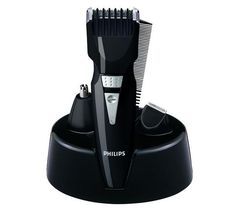 Look sharp with the Philips QG3040 5-in-1 Grooming Kit Beard and Hair Trimmer, with its set of five convenient attachments that give you precise control over your personal style.
