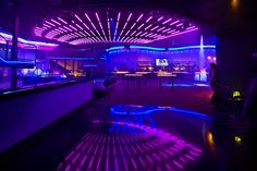 This colourful nightclub uses LED light strips to create an electric atmosphere