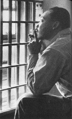 """We must use time creatively, and forever realize that the time is always ripe to do right. Now is the time to make real the promise of democracy, and transform our pending national elegy into a creative psalm of brotherhood."" --Martin Luther King, Jr., from his Letter from Birmingham Jail, April 16, 1963"
