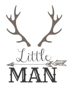 Little Man with horns and arrow free printable