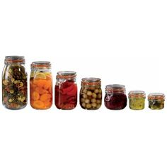 Artis Glassware Artis Storage Jars ❤ liked on Polyvore featuring home, kitchen & dining, food storage containers, food, fillers, food and drink, decor, backgrounds, food jar and glass jars