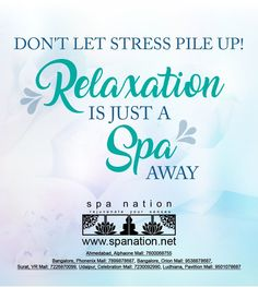 Dont let stress pile up.. Relaxation is just a spa away. #spa #spanation #relax