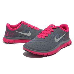 20c2f4227ea86d 2013 Damen Nike Free Run 4.0 V2 Grau Rosa - - €62.65 Nike Free Shoes