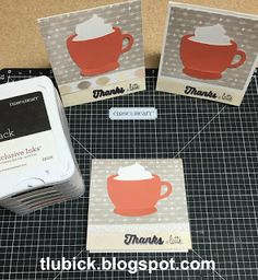 Thanks a Latte cards with CTMH Charlotte paper and Artistry Cricut Cartridge #ctmhCharlotte