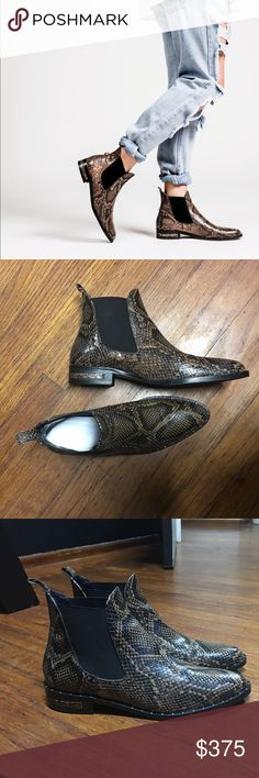 Freda Salvador Chelsea Boots Worn once!!! Willing to sell for $100 off. Just email me to get that deal! Freda Salvador Shoes Ankle Boots & Booties