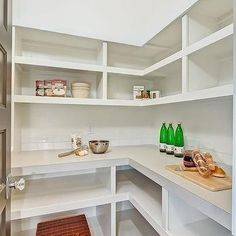 Walk In pantry Shelves, Transitional, kitchen, Clark and Co Homes …