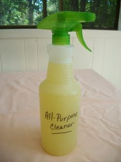 All-purpose Cleaner  1/2 C. vinegar* (a great disinfectant)  1 tsp. borax (add water softening properties)  1 tsp. liquid soap (use castille or dish detergent)  2 tsp. baking soda (add disinfecting and odor removing)  15 drops Tea Tree essential oil (a great antibacterial-antimicrobial oil) (Or use your favorite essential oil)  warm water