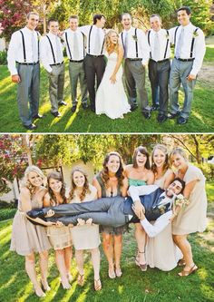 Group pic with Bride with Groom's Men and Groom with Bridesmaids