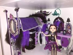 EVER AFTER HIGH RAVEN QUEEN DOLL BED REMAKE - YouTube
