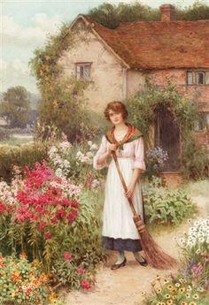 """""""A distant reverie"""" von William Affleck (1869-1943), britischer Maler."""