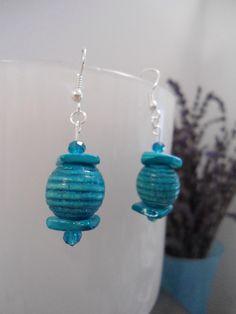 Turquoise Turtle, Turquoise Earrings, Wood Earrings, Shell Earrings, Turtle Earrings, Swarovski Earrings, Teal Earrings, Blue Earrings by ATouchOfT on Etsy