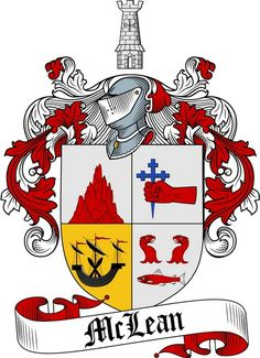 MCLEAN FAMILY CREST - COAT OF ARMS gifts at www.4crests.com