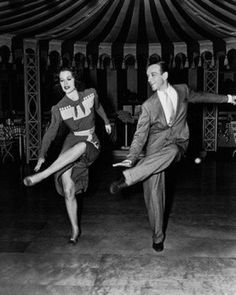 Eleanor Powell and Fred Astaire rehearsing.