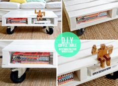 DIY Coffe Table - so cool and practical. ADANIAS Boutique