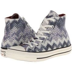 Converse Chuck Taylor All Star Hi Missoni - Cotton Lurex Athletic Shoes, Gray