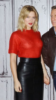 Actress Lea Seydoux attends the Spectre premiere in New York