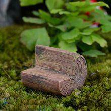 Artificial enfeites de cadeiras de jardim de fadas miniaturas gnome musgo terrário kawaii resina artesanato bonsai casa decoração para zakka(China (Mainland))