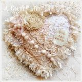 Gilded Heart Sachet | A Gilded Life, for vintage inspired art supplies, classes, and craft kits.
