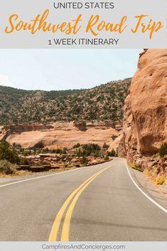 1 Week Itinerary - Southwest US Road Trip Las Vegas, Grand Canyon, Sedona, Zion National Park, Bryce Canyon National Park #southwest #grandcanyon #zion