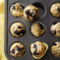 Blueberry Oat-Chia Seed Muffins