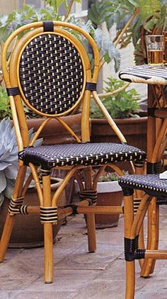 French bistro chairs for outdoor seating