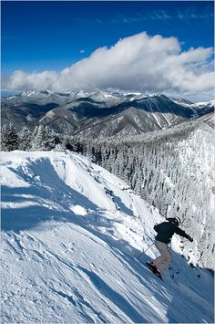 Bluebird skies, pristine slopes - Taos Ski Valley, NM