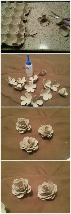 y si.. con cosas como cartones de huevo que siempre botamos a la basura se pueden crear hermosas flores para decorar paredes de tu hogar, espejos, portaretratos y de más... solo con la ayuda de unas tijeras, silicona fria/caliente y tus manos creativas le das forma.