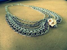 Wobisobi: Peter Pan Collar Necklace with Skull, DIY