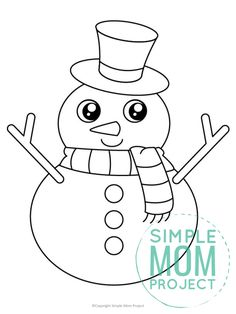It may not be Olaf or have a real carrot nose, but this free printable large snowman template is a great way to enjoy a fun winter craft! Use it as a traceable activity or build your own by cutting it apart and gluing it to a blank sheet of construction paper. You can even turn this snowman template into an easy coloring activity! Cute Snowman, Snowman Crafts, Color Activities, Winter Activities, Projects For Kids, Art Projects, Snowman Coloring Pages, Free Printable Coloring Sheets, Fall Banner