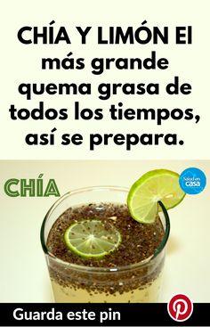 CHÍA Y LIMÓN El más grande quema grasa de todos los tiempos, así se prepara. #chia #limón #quemador #quemadordegrasa #quemagrasa #bajardepeso #pierdepeso #barriga