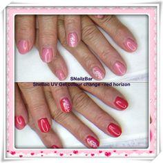 Shellac colour change UV gel  Red Horizon
