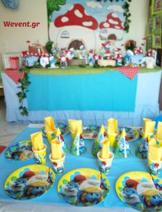Smurfs Village | CatchMyParty.com