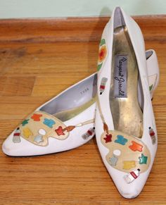 @Carrie Lederer -Margaret Jerrold painter artist palette shoes 9 1/2 by maryvannote, $75.00