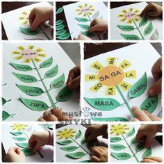 Każdy kwiatek ma 8 płatków z rożnymi sylabami. Środek każdego kwiatka jest podzielony na połowę...na każdej z nich znajduje się inna sylaba, która w połączeniu z płatkiem tworzy konkretny wyraz. Sylaba znajdująca się po lewej stronie jest końcówką wyrazu, płatek zaś początkiem.  Sylaba znajdująca się po prawej stronie środka jest zaś początkiem wyrazu, którego końcówkę tworzy płatek. Speech Room, Speech Therapy, Playing Cards, Education, Speech Language Therapy, Speech Pathology, Speech Language Pathology, Playing Card Games, Articulation Therapy