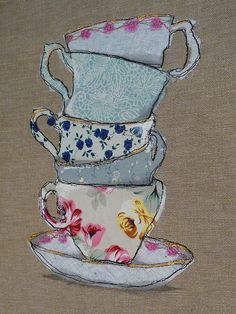 A Little of What You Fancy ~ pile of teacups